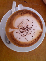 Cappuccino at the Kinyei Cafe Shop